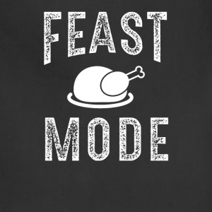 Feast Mode Funny Thanksgiving Beast TShirt - Adjustable Apron