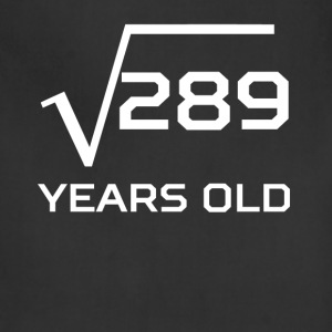 Square Root 289 Funny 17 Years Old 17th Birthday - Adjustable Apron