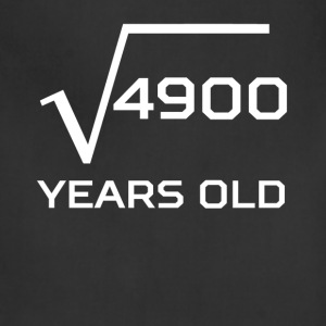 Square Root 4900 Funny 70 Years Old 70th Birthday - Adjustable Apron