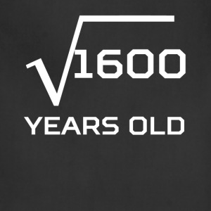 Square Root 1600 Funny 40 Years Old 40th Birthday - Adjustable Apron
