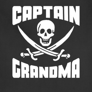 Captain Grandma Skull And Swords Funny Pirate - Adjustable Apron