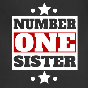 Number One Sister Retro Style Family - Adjustable Apron