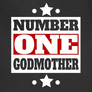 Number One Godmother Retro Style Family - Adjustable Apron