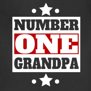Number One Grandpa Retro Style Grandparent's Day - Adjustable Apron