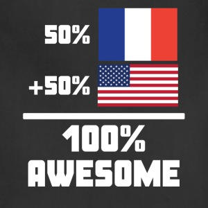 50% French 50% American 100% Awesome Funny Flag - Adjustable Apron