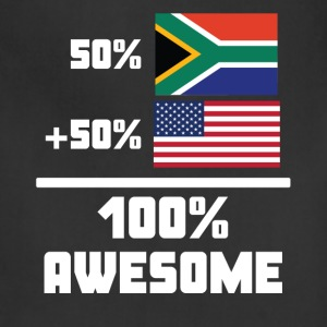 50% South African 50% American 100% Awesome Flag - Adjustable Apron