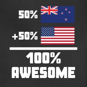50% New Zealand 50% American 100% Awesome Flag - Adjustable Apron