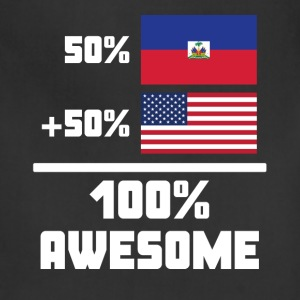 50% Haitian 50% American 100% Awesome Funny Flag - Adjustable Apron