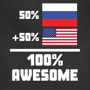 50% Russian 50% American 100% Awesome Funny Flag - Adjustable Apron