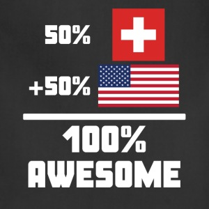 50% Swiss 50% American 100% Awesome Funny Flag - Adjustable Apron