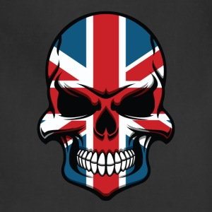 British Flag Skull Cool United Kingdom Skull - Adjustable Apron