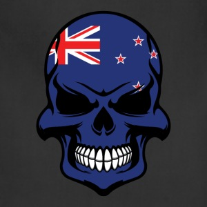 Kiwi Flag Skull Cool New Zealand Skull - Adjustable Apron