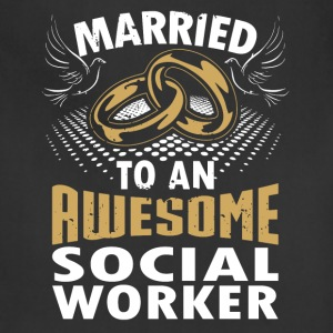 Married To An Awesome Social Worker - Adjustable Apron