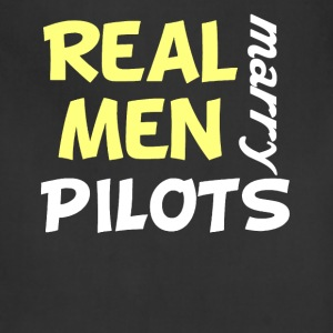 Real Men Marry Pilots Funny Pilot Humor - Adjustable Apron