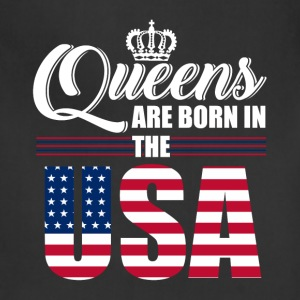 Queens are born in the USA - Adjustable Apron