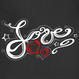 Love logo, Tribal and Tattoo style - Adjustable Apron