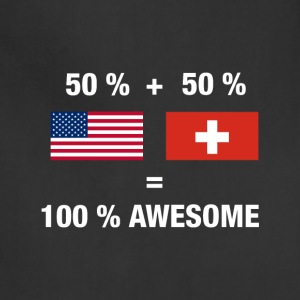 Half Swiss Half American 100% Switzerland Flag - Adjustable Apron