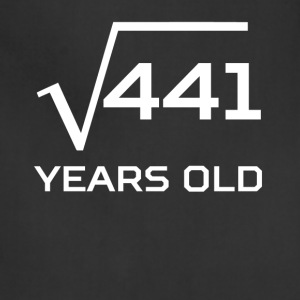 Square Root 441 Funny 21 Years Old 21st Birthday - Adjustable Apron