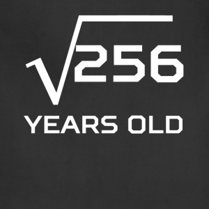 Square Root 256 Funny 16 Years Old 16th Birthday - Adjustable Apron