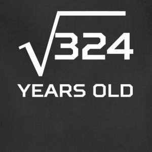 Square Root 324 Funny 18 Years Old 18th Birthday - Adjustable Apron