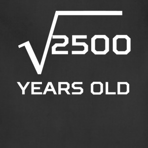 Square Root 2500 Funny 50 Years Old 50th Birthday - Adjustable Apron