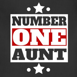 Number One Aunt Retro Style Family - Adjustable Apron