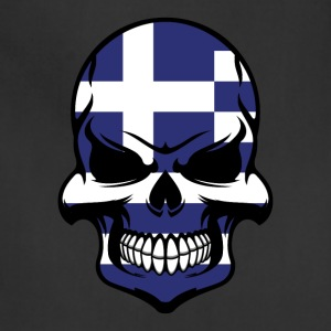 Greek Flag Skull Cool Greece Skull - Adjustable Apron