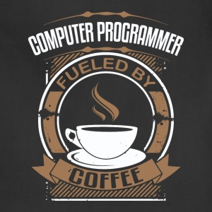 Computer Programmer Fueled By Coffee - Adjustable Apron