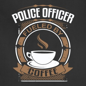Police Officer Fueled By Coffee - Adjustable Apron