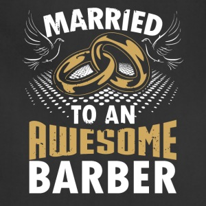 Married To An Awesome Barber - Adjustable Apron