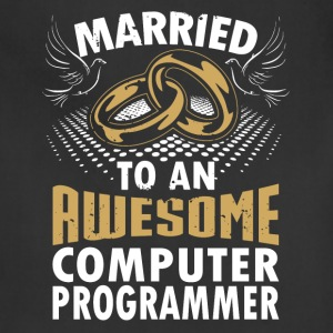 Married To An Awesome Computer Programmer - Adjustable Apron