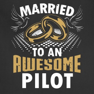 Married To An Awesome Pilot - Adjustable Apron