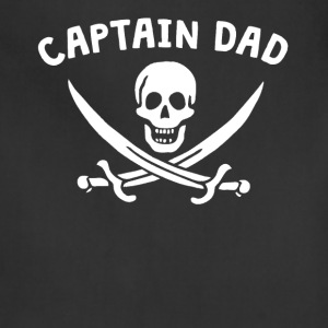 Captain Dad Pirate Father's Day Shirt - Adjustable Apron