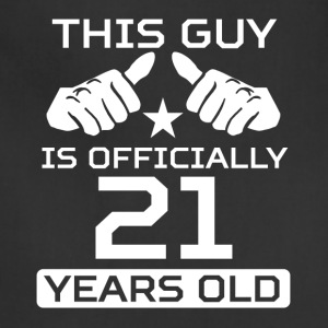 This Guy Is 21 Years Funny 21st Birthday - Adjustable Apron