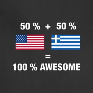 Half Greek Half American 100% Awesome Flag Grece - Adjustable Apron