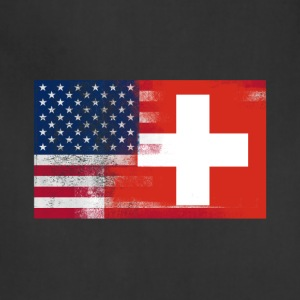 Swiss American Half Switzerland Half America Flag - Adjustable Apron