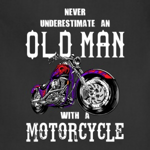 Never Underestimate an Old Man Motorcycle - Adjustable Apron