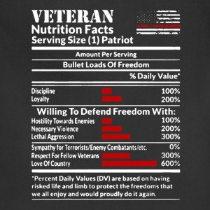 Veteran Nutrition Facts Shirt - Adjustable Apron