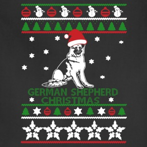 German Shepherd Christmas Sweatshirt - Adjustable Apron