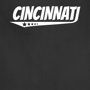 Cincinnati Retro Comic Book Style Logo - Adjustable Apron