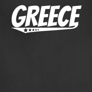 Greece Retro Comic Book Style Logo Greek - Adjustable Apron