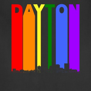 Dayton Ohio Skyline Rainbow LGBT Gay Pride - Adjustable Apron