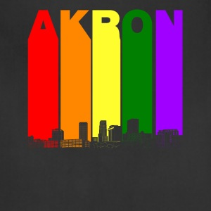 Akron Ohio Skyline Rainbow LGBT Gay Pride - Adjustable Apron