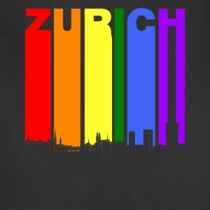 Zurich Switzerland Skyline Rainbow LGBT Gay Pride - Adjustable Apron