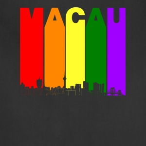 Macau China Skyline Rainbow LGBT Gay Pride - Adjustable Apron