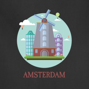 Amsterdam Netherlands Tourist Souvenir Artwork - Adjustable Apron