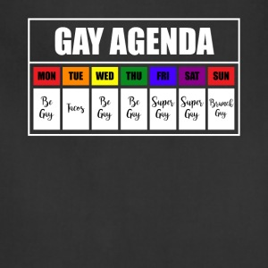 lgbt gay agenda t shirt - Adjustable Apron