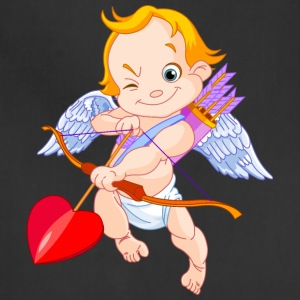 cupid-heart-bow-smile-wings - Adjustable Apron