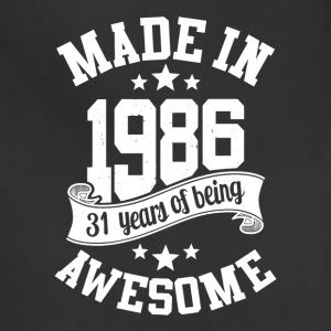 Made in 1986 awesome 30 years of being T-Shirt - Adjustable Apron