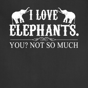 I Love Elephants Tee Shirt - Adjustable Apron